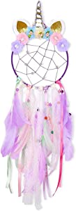 LATT Cute Dream Catcher Wall Decor Colorful Feather Dreamcather Handmade Wall Hanging for Girls Kids Bedroom Decoration