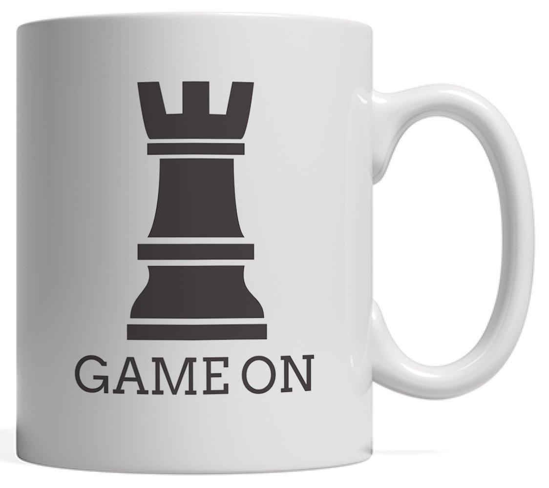 【オープニング 大放出セール】 面白いゲームonチェスピースRook Sillouette Mug with Board Graphicユーモアのギフトを愛するオタクスマートゲーマーと選手チェスピースand Checker Board Games Tournaments with Tournaments B076ZV4VX1, ツバメシ:c0446676 --- nicolasalvioli.com