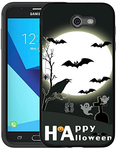 J7 Case 2017 & MUQR Black Cover Silicone Rubber Protective Compatible for Samsung Galaxy J7 2017/J7 V/J7 Sky Pro/J7 Perx/J7V 2017/J7 Prime & Halloween Bat Design for $<!--$4.62-->