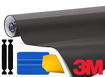 3M 1080 Matte Dark Gray Air-Release Vinyl Wrap Roll Including Toolkit 1ft x 5ft