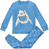 Boys Pajamas Shark 2 Piece 100% Super Soft Cotton (12m-8y)