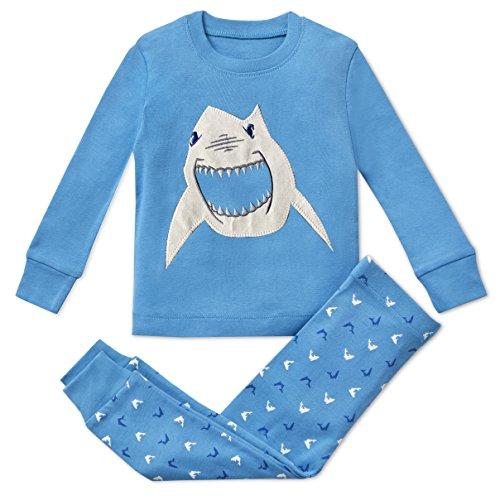 Boys Pajamas Shark 2 Piece 100% Super Soft Cotton (12m-8y) by Bluenido (Image #7)