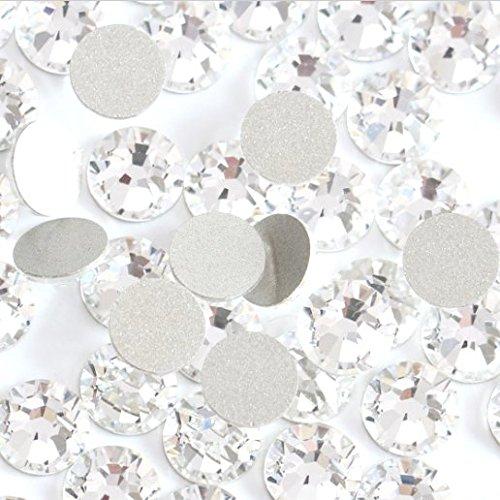 Crystal AB/Crystal Flatback Glass Rhinestones Glue Fix (ss30 (6mm) 288 pcs, ()