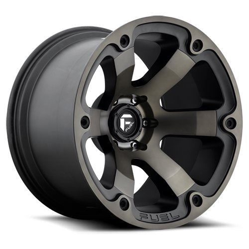 Fuel Offroad D564 Beast 17x9 6x139.7 +20mm Black/Machined Wheel Rim - Off Road Rims
