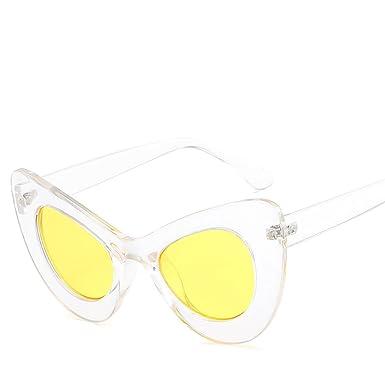 cdd1efccbd4 SUDOOK Unisex Cateye Colored Glasses Frame Polarized Conjoined Sunglasses  Batman Shape Sunglasses