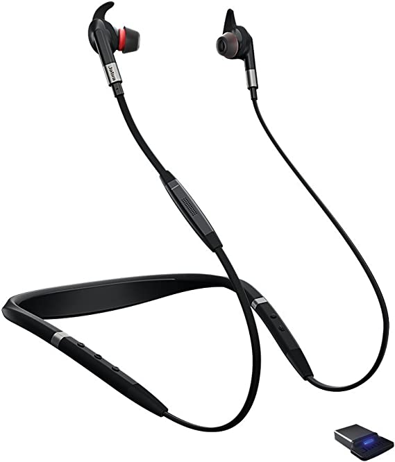 Amazon Com Jabra Evolve 75e Ms Bluetooth Wireless In Ear Earphones With Mic Noise Canceling