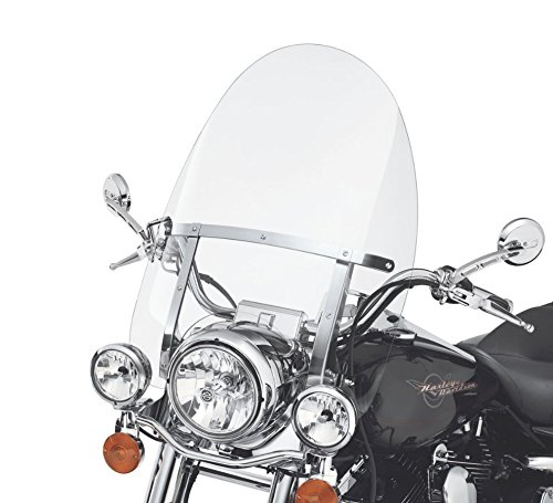 (29'' x 22'' Detachable Quick Release Windshield For Harley Road King 94-18 Clear)