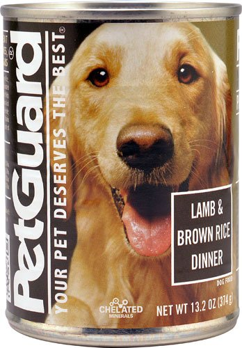 PetGuard Canned Adult Dog Food Lamb and Brown Rice -- 14 oz [ Pack of 4 ]