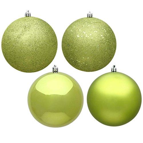 Vickerman 488683 - 12'' Lime 4 Assorted Finish Ball Christmas Tree Ornament (Set of 4) (N593073DA) by Vickerman (Image #1)