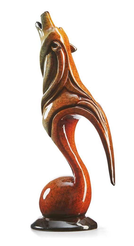 Howl - Wolf Imago Sculpture by Stephen Herrero by Wild Wings