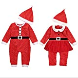 Christmas Costume for Newborn, Misaky Baby Boys Long Sleeve One-Piece Romper Outfits