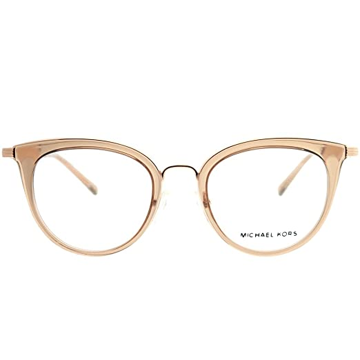 0b31d474252 Amazon.com  Michael Kors MK 3026 3501 Aruba Rose Gold Metal Rounr  Eyeglasses 50mm  Clothing