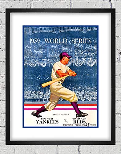1939 Vintage Cincinnati Reds - New York Yankees World Series Program Cover - Digital Reproduction - Print or Matted Print or Framed Matted Print