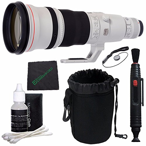 Canon EF 600mm f/4L IS II USM Lens + SLR Lens Pouch + Lens Cleaning Pen + Cleaning Cloth + Lens Cap Keeper Bundle 1 (Canon 600mm Ii Lens compare prices)