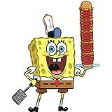8 Inch Spongebob Squarepants Sponge Bob Krabby Patty Krusty Krab Removable Peel Self Stick Adhesive Vinyl Decorative Wall Decal Sticker Art Kids Room Home Decor Girl Boy Children Bedroom 6x8 Inch
