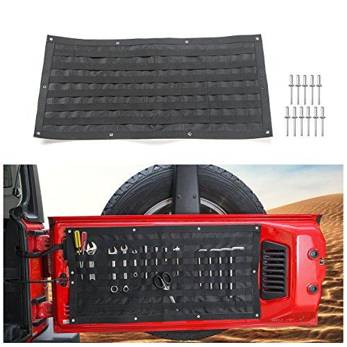 (Voodonala 1pc Tailgate Tool Kit Canvas Bag Tool Organizer Pockets for 2007-2018 Jeep Wrangler JK JKU JL JLU)