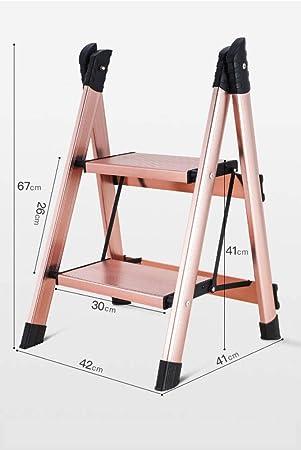 LADDER Taburete Pequeño Taburete Taburete Escalera de Aluminio Escaleras Heces Estribo Amplio Escalón Taburete Plegable Multifunción Domés: Amazon.es: Bricolaje y herramientas