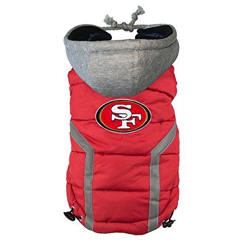 NFL San Francisco 49ers Dog Puffer Vest, Medium