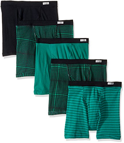 Fruit of the Loom Big Boys' 5 Pack Short Leg Boxer Brief, Assorted, L