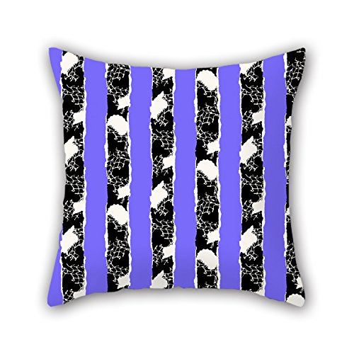 PILLO Throw Cushion Covers 18 X 18 Inches / 45 By 45 Cm(double Sides) Nice Choice For Floor,home Theater,lover,bar,couples,bar Seat Stripe