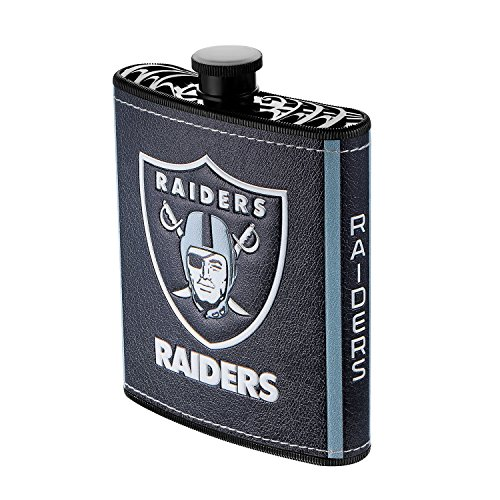 (Pro Specialties Group NFL Oakland Raiders Plastic Hip Flask, 7-Ounce)