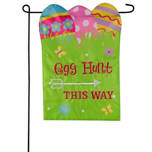 Easter Garden Flag 12x18 Easter Egg Hunt Garden Flags