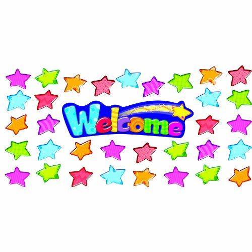 Welcome Stars Mini Bbs Learning Materials Bulletin Board Sets-Mini T-8710 Trend Enterprises Inc.