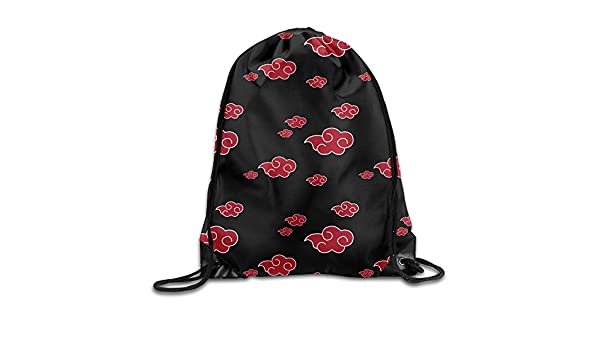 Amazon.com: FOODE Akatsuki Pattern Drawstring Backpack Sack Bag: Home & Kitchen