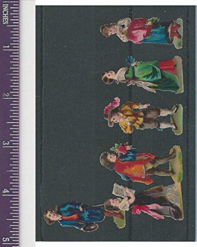 Victorian Diecuts, 1890's, Children, Six Figures (34) ()
