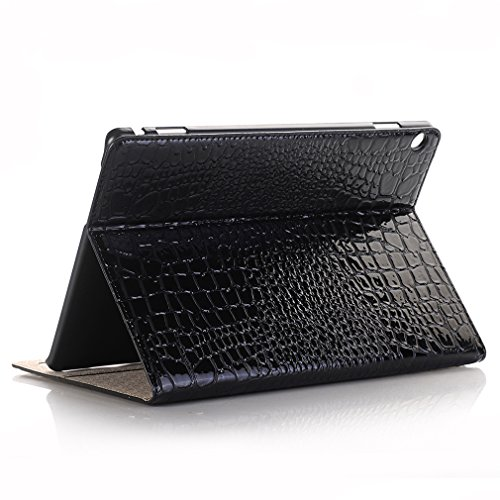 Folding 10 Ultra MediaPad Leather Case PU Leather for Wake Crocodile Function Sleep Huawei Thin Bookstyle Closure Magnetic 1 Grain 10 Cover LMFULM Card Auto and of M3 Inch Lite Stent Black Business Slot q7wawx0t
