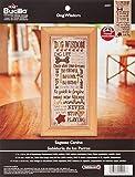 Bucilla Counted Cross Stitch Kit, 7 by 16-Inch, 45957 Dog Wisdom