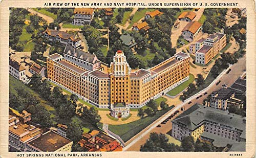 Air View of the New Army and Navy Hospital, Under Supervision of U. S. Government New Army and Navy Under Supervision of U. S. Government Hot Springs National Park, AR, USA 1937