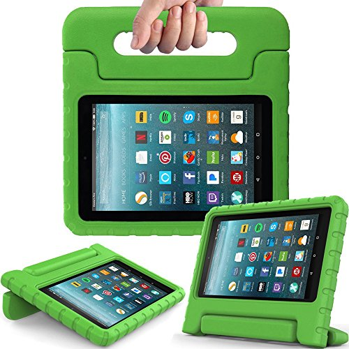 eTopxizu Tablet Case for All-New Amazon Fire 7 2017 - Light Weight Shock Proof Convertible Handle Kid-Proof Cover Kids Case for All-New Fire 7(7th Generation, 2017 Release), Green