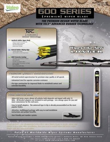 "Valeo 60021 600 Series Windshield Wiper Blade, 21"" (Pack of 1)"