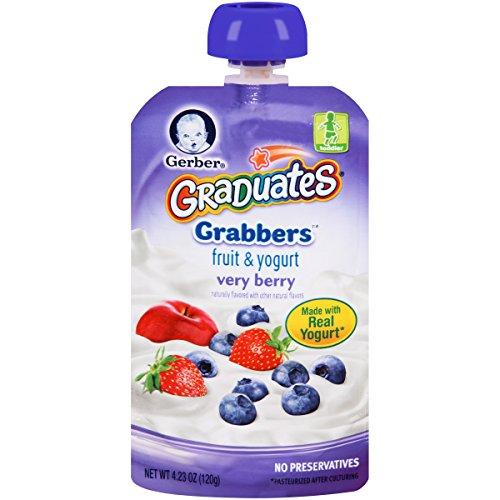 Gerber Graduates Grabbers, Fruit and Yogurt Very Berry, 4.23 Ounce (Pack of (Fruit Source Yogurt)