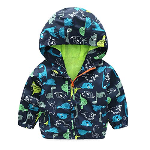 - EISHOW Kids Baby Boys Long Sleeve Dinosaur Fall Coat Outwear Infant Toddler Hoodie Hooded Zip-up Thin Jacket Clothes Sweatshirt (Green, 18-24 Months)