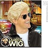 Mens Blonde George Michael Wham Wig 80'S Disco Grease Fancy Dress