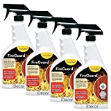 ForceField FireGuard Flame-Retardant Treatment - set of 4 sprays - 22oz each by iDecor [can be safely applied to clothing, fabrics, draperies, furniture, carpets, upholstery, textiles]: more info