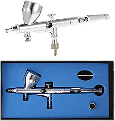 0.25mm Gravity Feed Dual-action Airbrush Kit Art Painting Tattoo Tool Gold