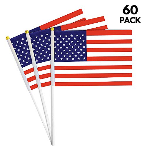 60 Pack - American Flags 11