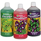 Senua-General Hydroponics Hard Warter Flora Series QT - FloraGro, FloraBloom, and FloraMicro Garden, Lawn, Supply, Maintenance 1Ltr