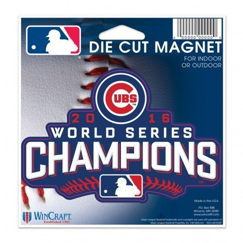 Officially Licensed MLB Chicago Cubs 2016 World Series Champion Magnet