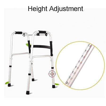 Trella Walker para personas mayores con mango suave, altura ajustable, rodillo de aleación de aluminio plegable, para discapacitados, dispositivo de ...