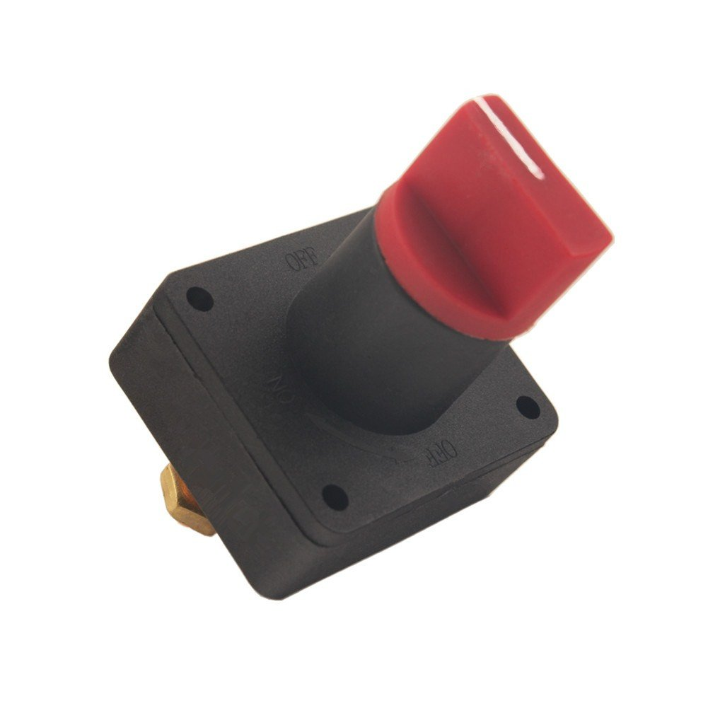 Dewhel Rotary Battery Disconnect Isolator Power Kill Cut OFF Switch 300A for Car Boat Marine Van Truck Rv Caravan