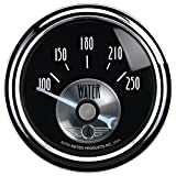 Auto Meter 2038 Prestige Black 2-1/16'' 100-250 Degree Water Temperature Gauge