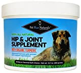 Glucosamine for Dogs, All Natural Hip & Joint Supplement for Dogs, Organic Turmeric Glucosamine Chondroitin MSM for Dogs, Arthritis and Pain Relief, 90 Soft Chews Made in USA