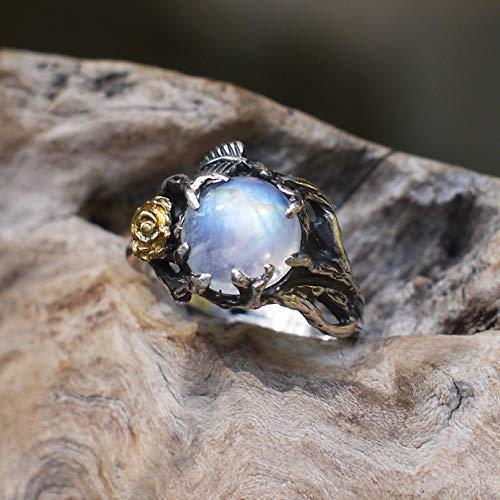 (Rainbow Moonstone Ring