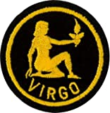Klicnow Virgo Zodiac Horoscope Embroidered Patch