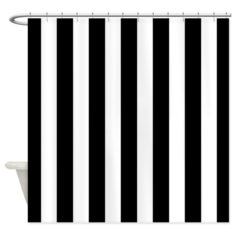 Amazon.com: CafePress - Black And White Vertical Stripes ...