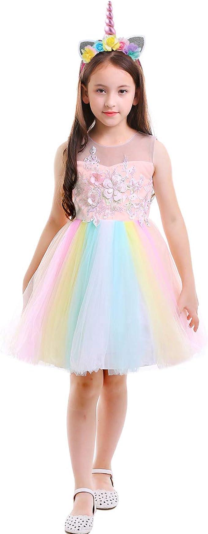 Flower Girl Dress Fairy Wings Sequin Hem Flower Girl Rainbow Costume Wedding Butterfly Wings Rainbow Tutu Fairy Dress Sequin Dress